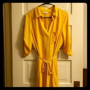 Yellow dress, New York & Company